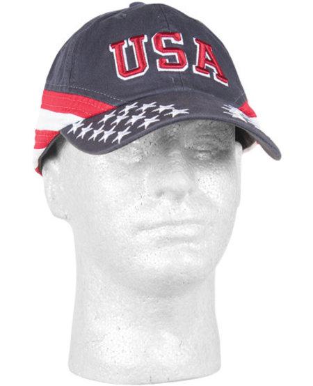 USA Stars & Stripes Embroidered Ball Cap