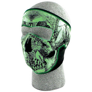 Fox Outdoor Products Neoprene Thermal Face Mask - Glow in the Dark
