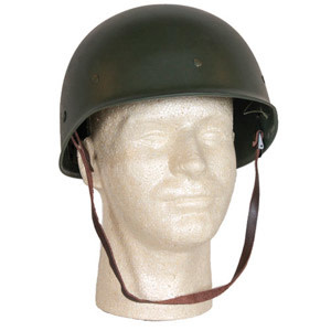 Fox Outdoor Products Deluxe M1 Plastic Liner with Suspension & Leather Chin Helmet
