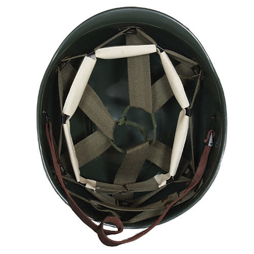 Fox Outdoor Products Deluxe M1 Style Steel Combat Helmet with Liner