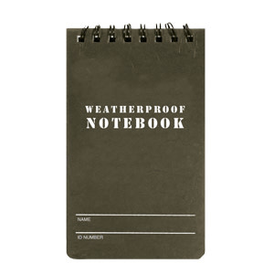 Fox Outdoor Products Military Style Weatherproof Notebook 3 x 5