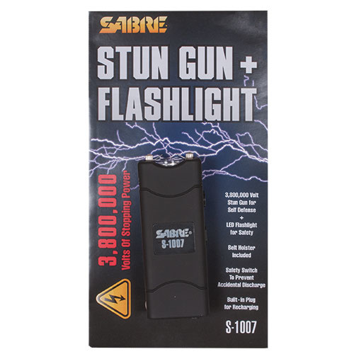 Fox Outdoor Products Sabre 3.8 Square Million Stun Gun & Flashlight