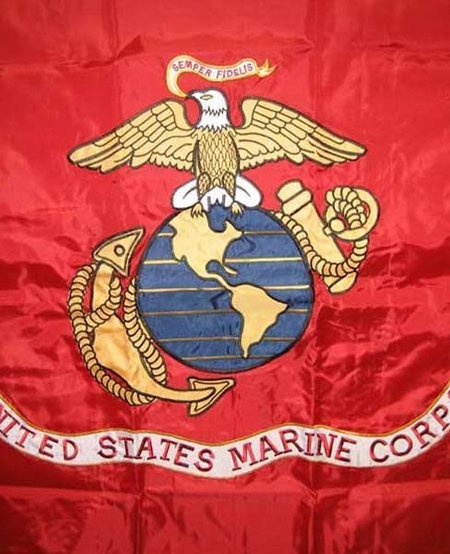 Marine Corps Double Sided Embroidered 3 x 5 Flag