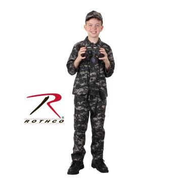 Rothco Kid's Digital Camo BDU Shirt