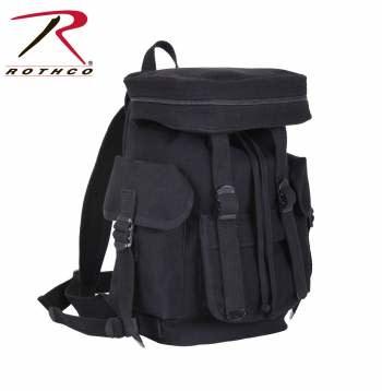Rothco Compact Canvas European Rucksack - Black