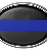 Mitchell Proffitt Police Blue Line Oval Shaped Auto Emblem