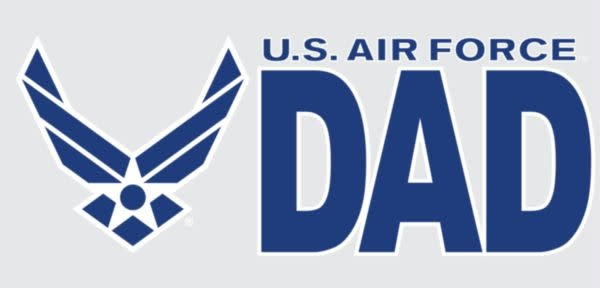"Mitchell Proffitt US Air Force Dad 3"" x 6.25"" Window Decal"