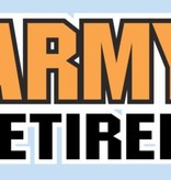 Mitchell Proffitt Army Retired Stacked Text Window Decal 5.125 x 2.93