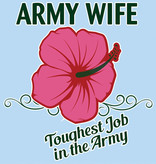 Mitchell Proffitt Army Wife Window Decal 3.5 x 4.5