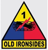 Mitchell Proffitt 1st Armored Division 'Old Ironsides' Window Decal 3.5 x 3.75