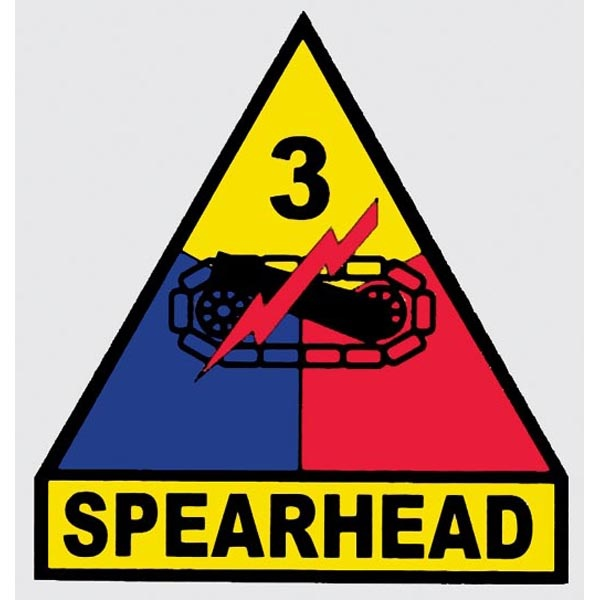 Mitchell Proffitt 3rd Armored Division 'Spearhead' Window Decal 3.5 x 3.75