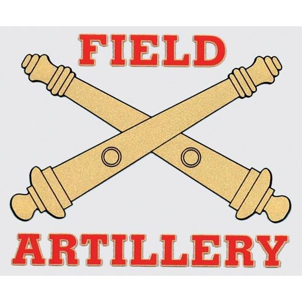 Mitchell Proffitt Field Artillery Window Decal 4.75 x 4