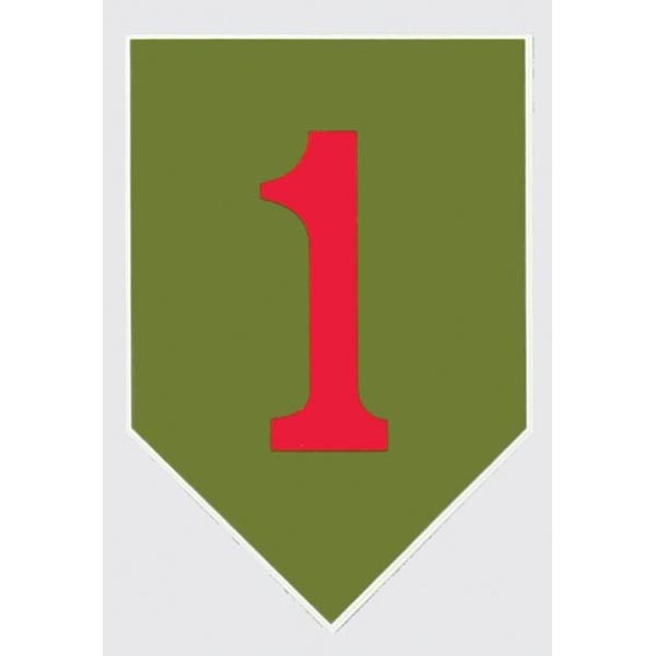 """Mitchell Proffitt Big Red One 1st Infantry Decal 3"""" x 4.25"""""""