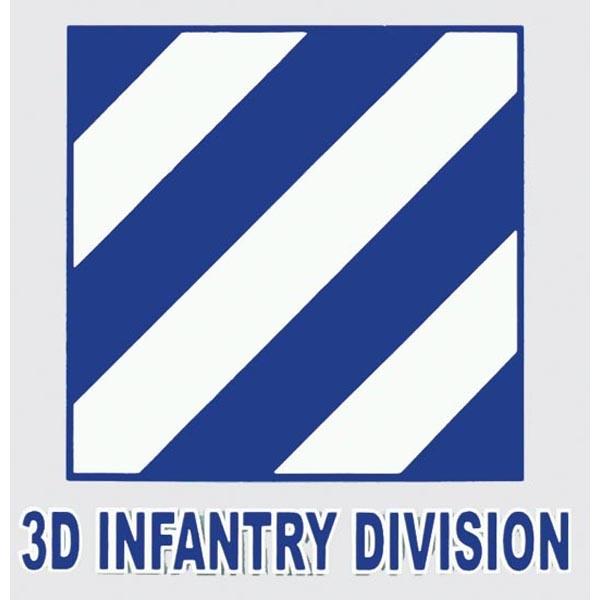 "Mitchell Proffitt 3rd Infantry Division 4.25"" x 4.25"""