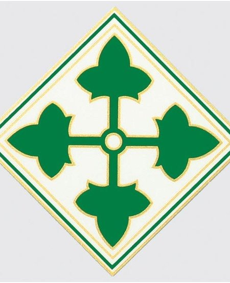 """4th Infantry Division 4.25"""" x 4.25"""" Window Decal"""