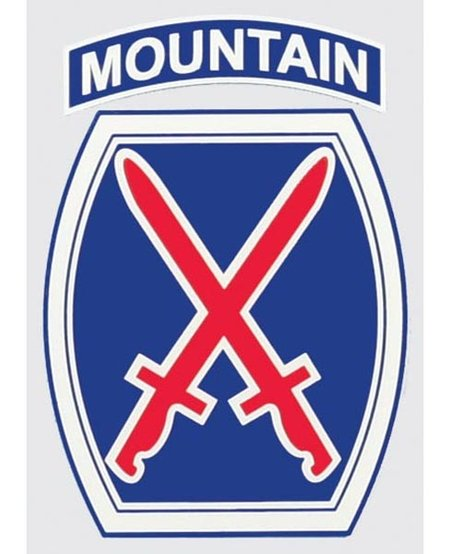 """10th Mountain Division 3.25"""" x 4.25"""" Window Decal"""