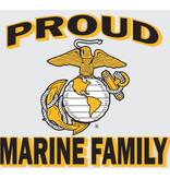 "Mitchell Proffitt Proud Marine Family with EGA Emblem 4"" x 4.5"" Window Decal"