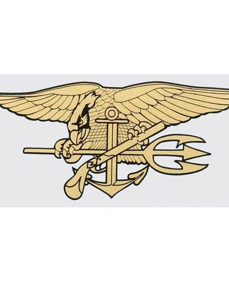 "Navy Seals Trident 6"" x 3"" Window Decal"