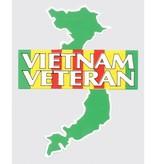 Mitchell Proffitt Vietnam Veteran on Campaign Ribbon over Vietnam Map Window Decal