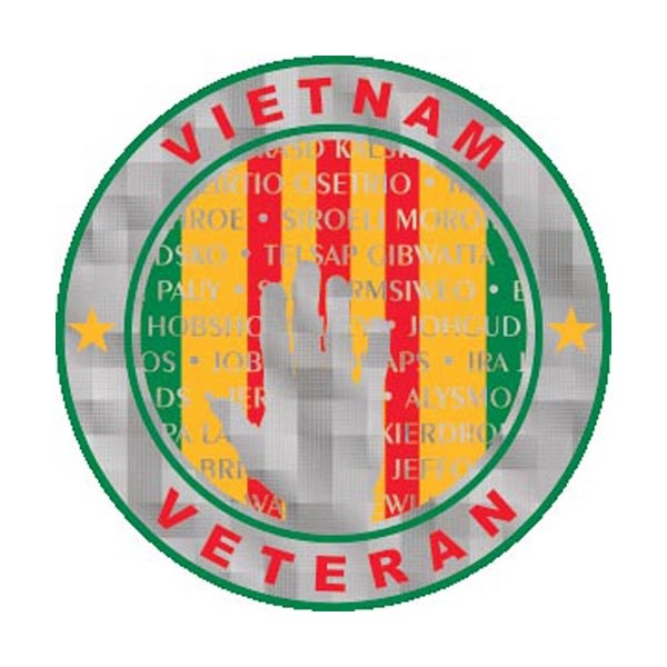 Mitchell Proffitt Vietnam Campaign Ribbon with Vietnam Wall Sticker
