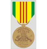 """Mitchell Proffitt Republic of Vietnam Service Medal Decal 2.74"""" x 5.5"""""""