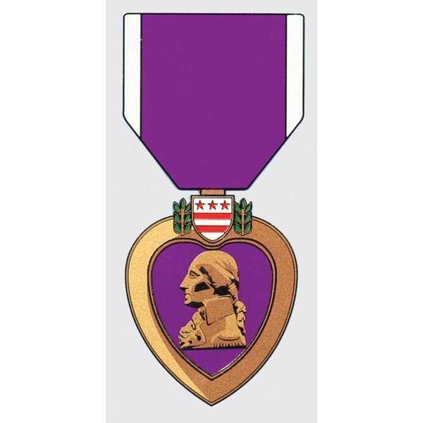 "Mitchell Proffitt Purple Heart Decal 2.75"" x 5.75"""