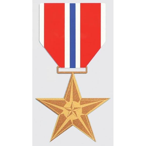 """Mitchell Proffitt Bronze Star Decal 3"""" x 5.75"""""""