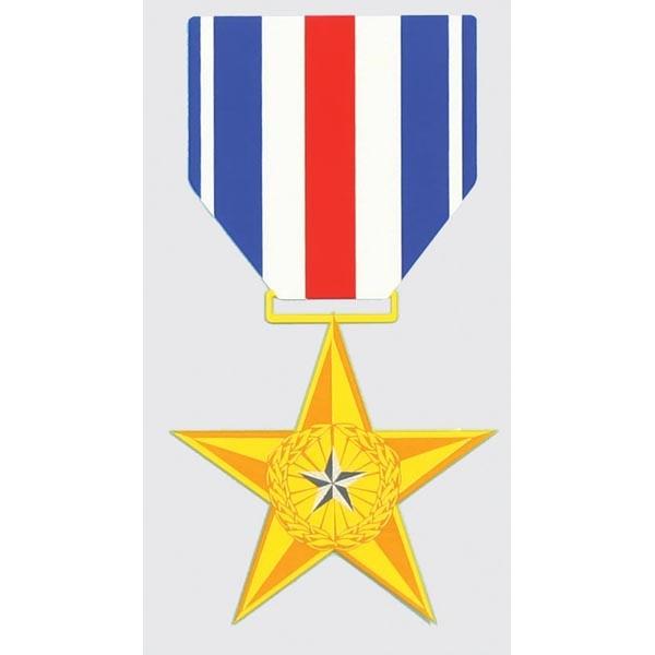 """Mitchell Proffitt Silver Star Decal 3"""" x 5.75"""""""