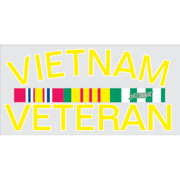 Mitchell Proffitt Vietnam Veteran with Campaign Ribbons Decal