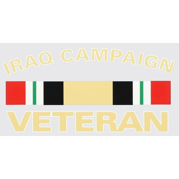 Mitchell Proffitt Iraq Campaign Veteran with Campaign Ribbon Decal