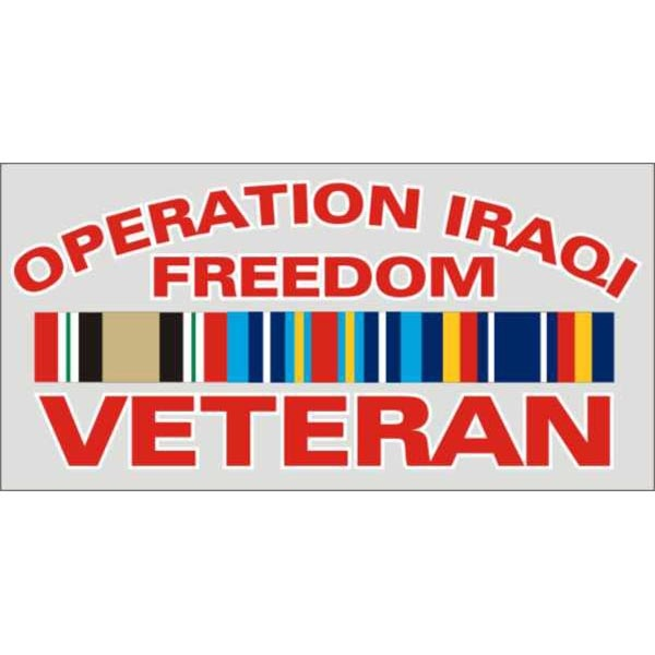Mitchell Proffitt Operation Iraq Freedom Veteran with Campaign Ribbon Decal