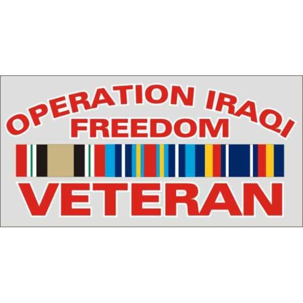 Mitchell Proffitt Operation Iraq Freedom Veteran with Campaign Ribbon Decal