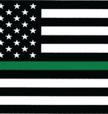 Mitchell Proffitt American Flag Thin Green Line Decal