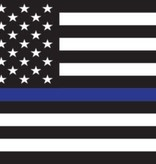 Mitchell Proffitt American Flag Thin Blue Line Decal