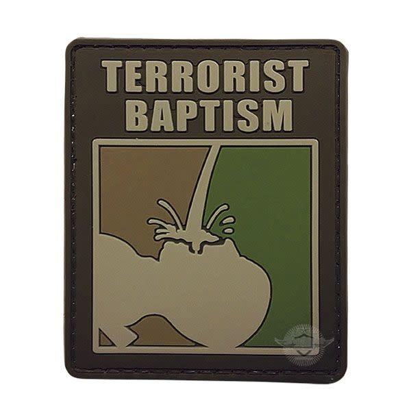 5ive Star Gear Terrorist Baptism - PVC Morale Patch - Velcro
