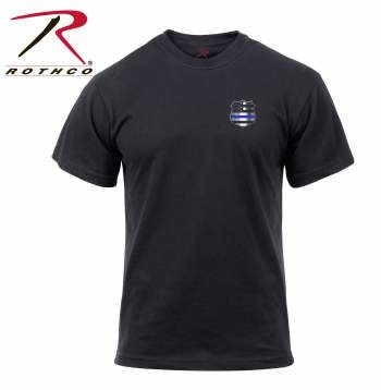 Rothco Thin Blue Line Shield T-Shirt