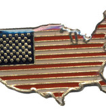 Ramsons Imports USA Flag in shape of USA Lapel Pin