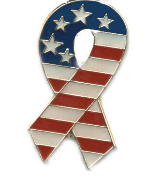 Ramsons Imports USA Flag Ribbon Lapel Pin