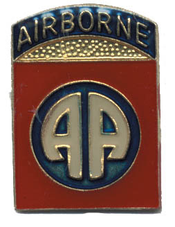 Airborne (AA) without wings Lapel Pin