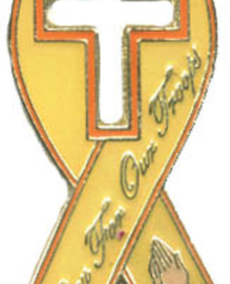 Pray For Our Troops Ribbon Lapel Pin