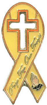 Ramsons Imports Pray For Our Troops Ribbon Lapel Pin