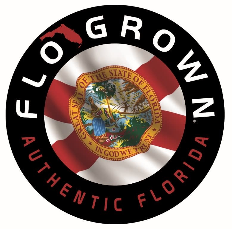 Flo Grown Circle Flag Decal