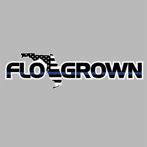 Flo Grown Blue Line Decal