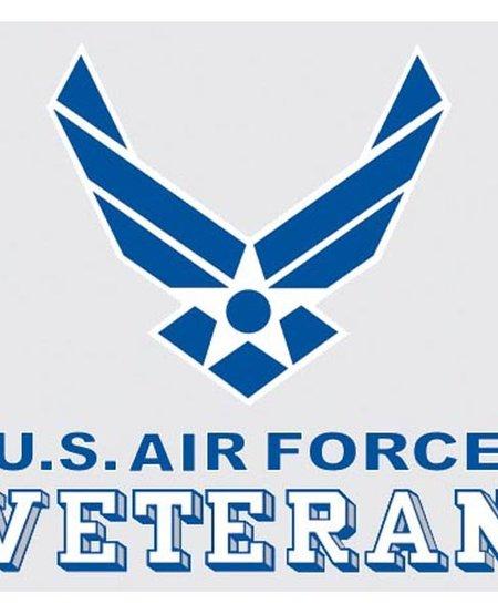 """U.S. Air Force Veteran with Symbol 3.75"""" x 3.5"""" Decal"""