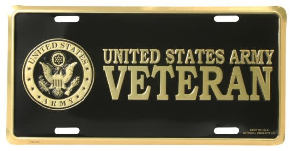 Mitchell Proffitt U.S. Army Veteran License Plate