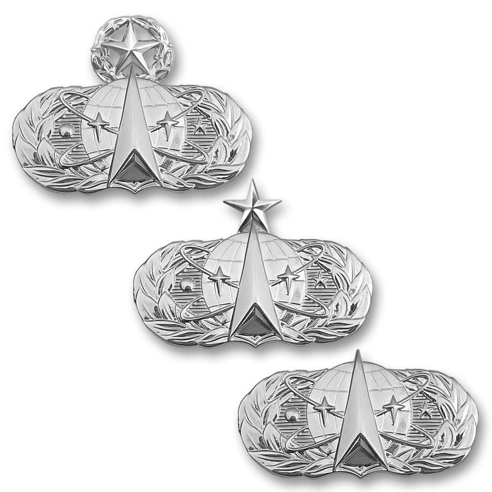 No Shine Insignia Air Force Badge - Space Operations Insignia