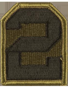 No Shine Insignia 2nd Army Patch