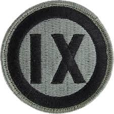 9th Corps Army Patch