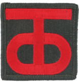No Shine Insignia 90th Infantry Division Patch