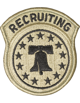 No Shine Insignia Recruiting Command - Army Patch
